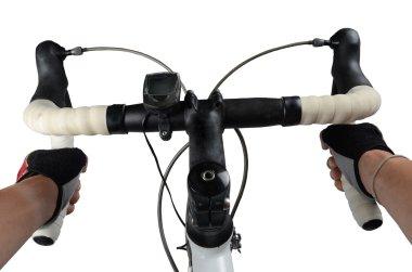 Cycle riding on bike