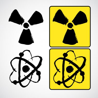 Grunge illustration radioactive symbol