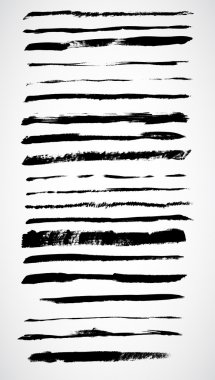 Grunge vector ink lines
