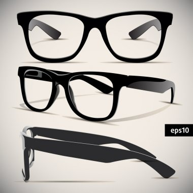Glasses vector set. Retro. Background stock vector