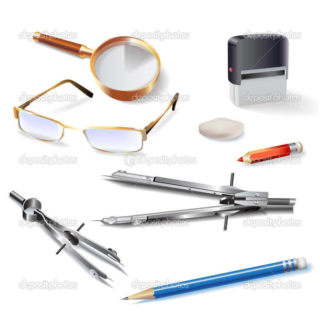 Set Of Architectural Drawing Tools Stock Vector AC Nahariyani Depositphotos 11394448 Illustration