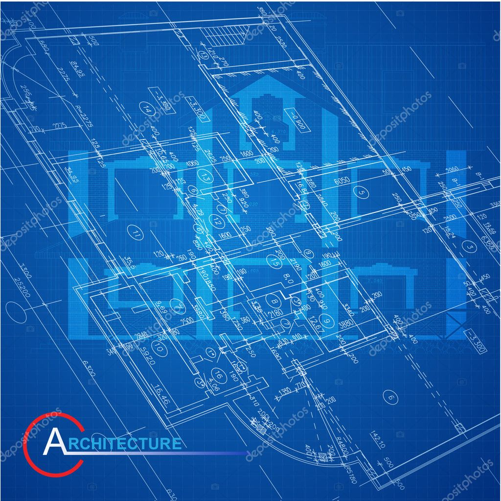 Urban blueprint vector architectural background stock vector part of architectural project architectural plan technical project drawing technical letters architect at work architecture planning on paper malvernweather Images