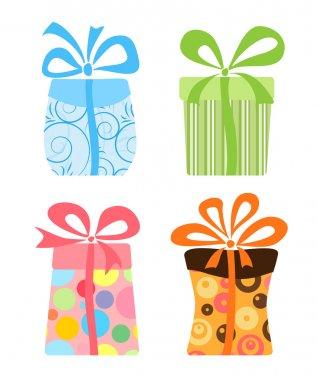 Cute gift boxes collection clip art vector