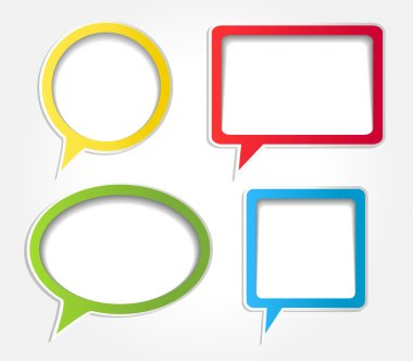 Colorful speech bubbles vector set