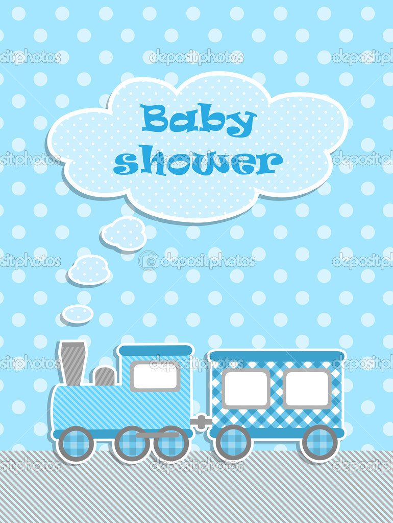 baby shower for boy with scrapbook elements stock vector 11443069