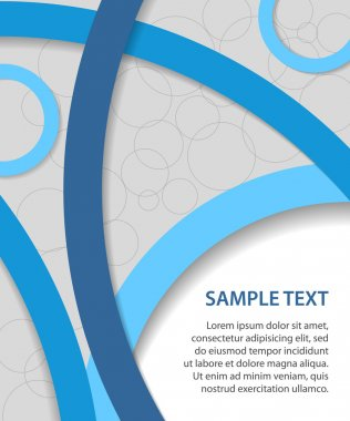 Blue vector business background with circles