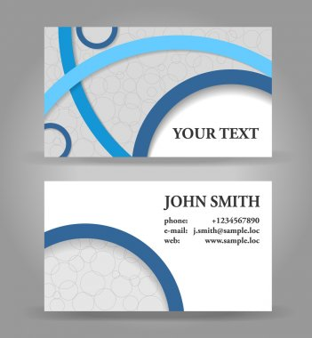 Blue and gray modern business card template.
