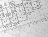 architektonické pozadí. část architektonického projektu, architektonický plán, technický projekt, kreslení technické dopisy, architekt v práci, architektury, plánování na papíře, stavební plán
