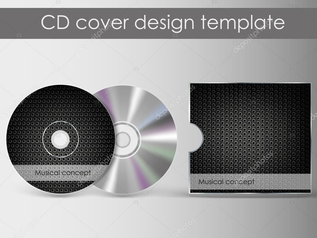 cd cover design with 3d presentation template | everything is, Presentation templates