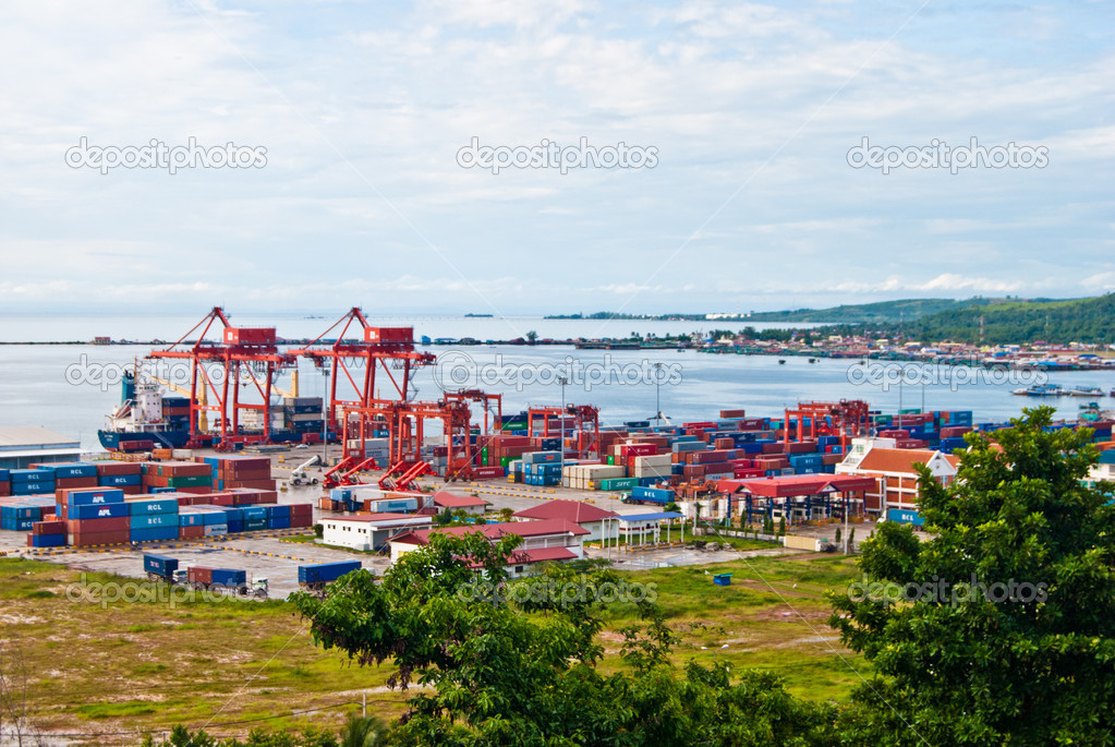 View from the top of the port, Sihanoukville, Cambodia