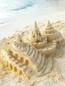 Fotografie Sand Castle on the Beach