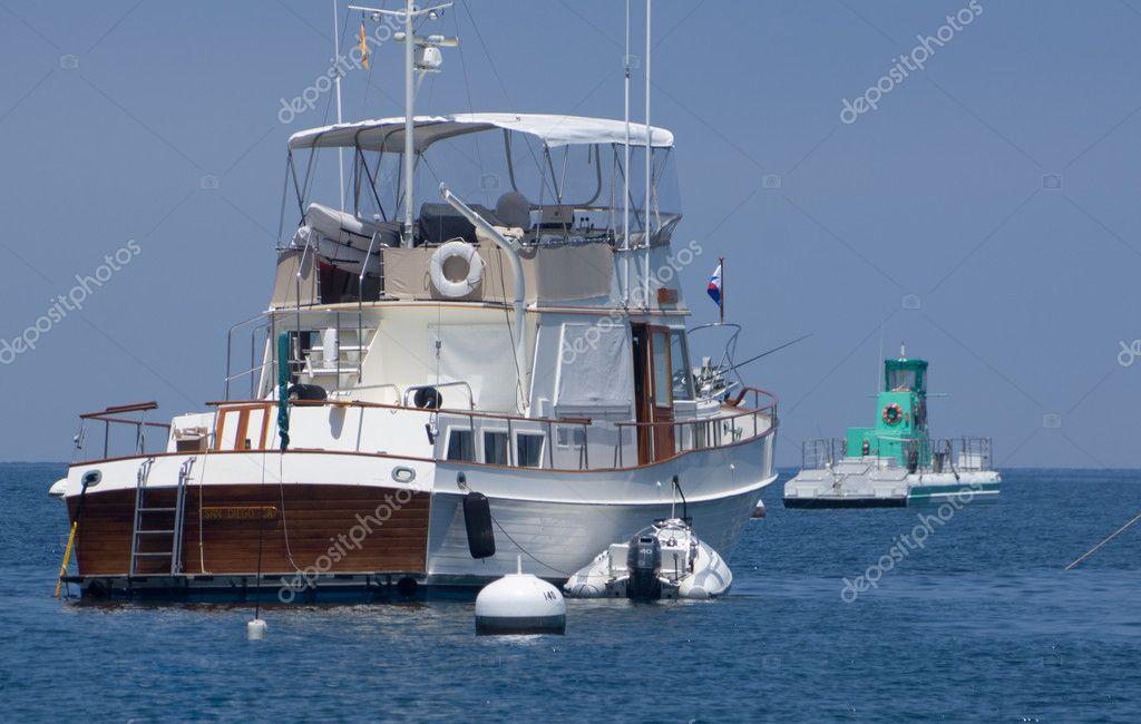 Yacht Moored at Santa Catalina Island
