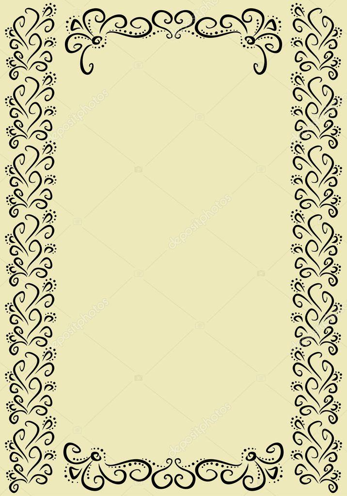marco vertical vintage — Vector de stock © Leyla_Siyanova #12255897