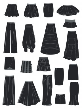 A set of skirts