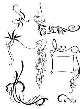 Black decorative patterns