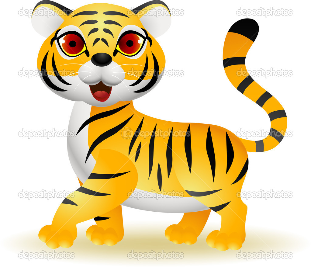 funny tiger cartoon u2014 stock vector idesign2000 11059891
