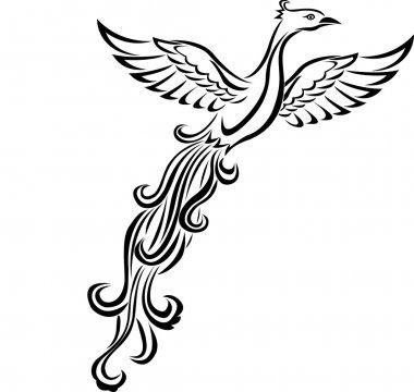 Phoenix bird tattoo