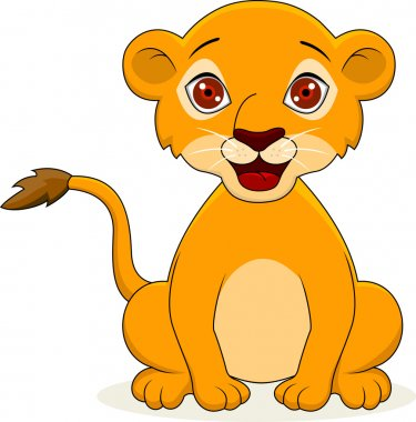 Baby lion cartoon