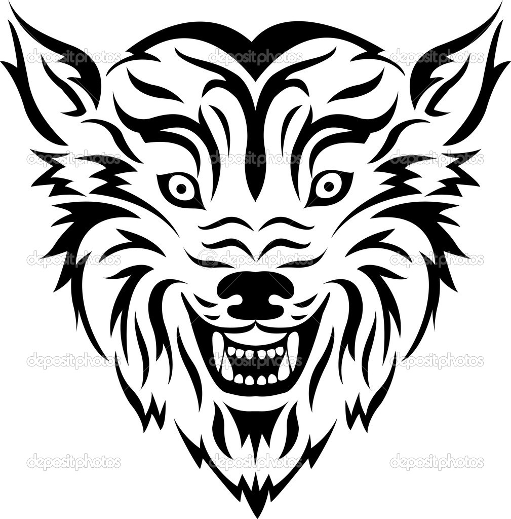 Tribal Tatuaż Wilk Grafika Wektorowa Idesign2000 11904710