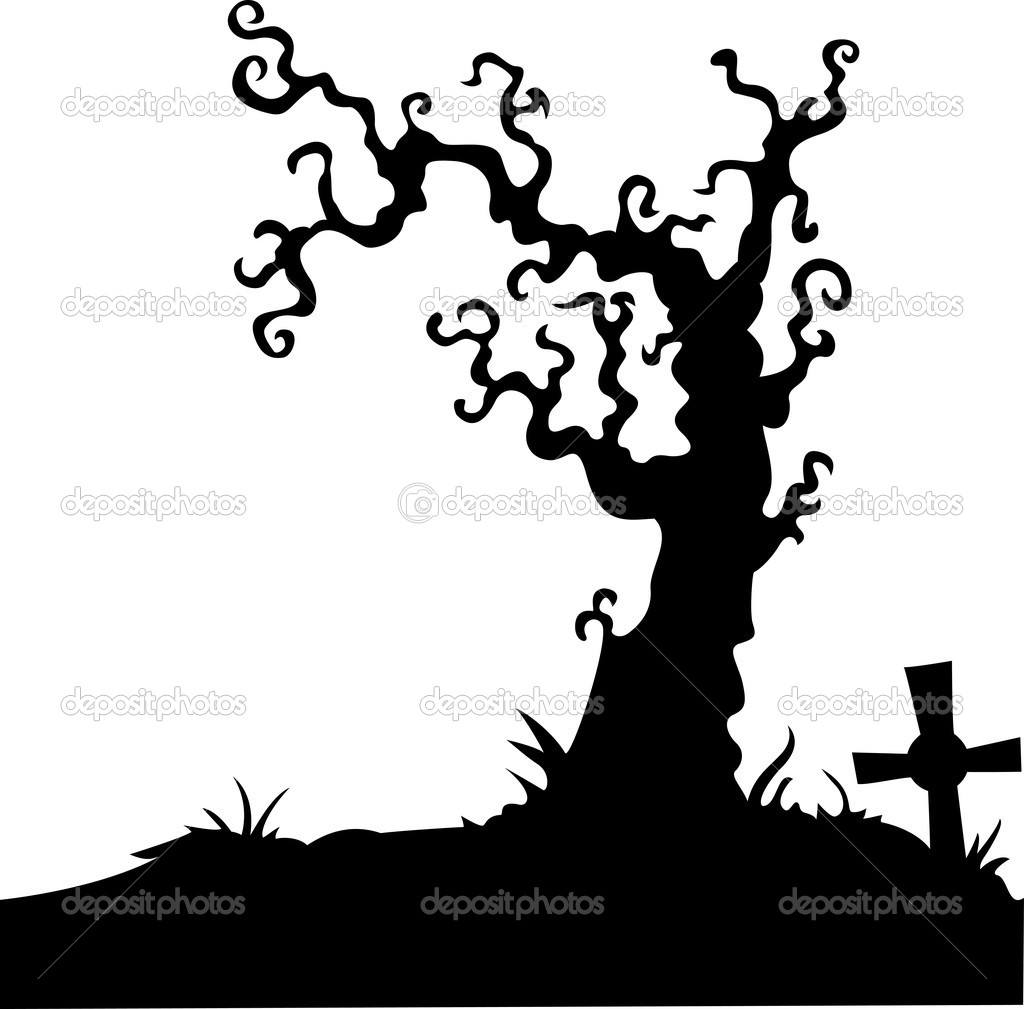 Grave with dead tree on white — Stock Vector © idesign2000 ...
