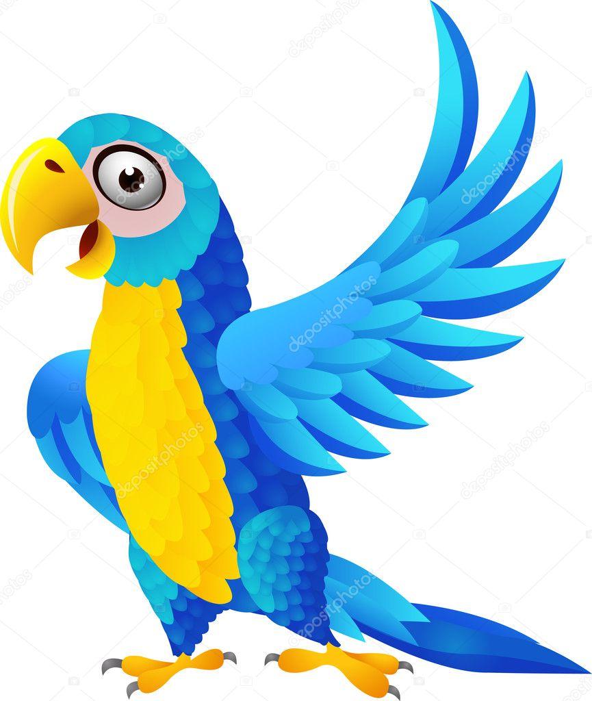 Muitas vezes desenho de arara azul — Vetor de Stock © idesign2000 #11905005 TV42