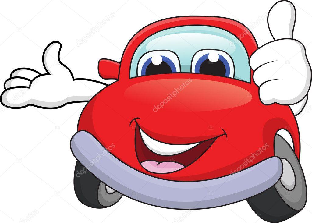 Car Cartoon Character With Thumb Up Stock Vector C Idesign2000
