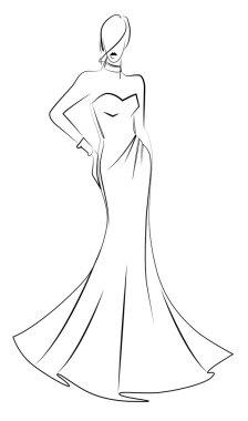 Fashion model vector illustration