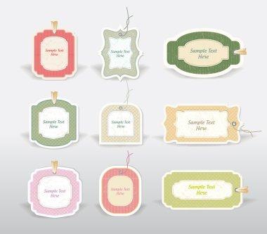 Vector retro labels illustration set