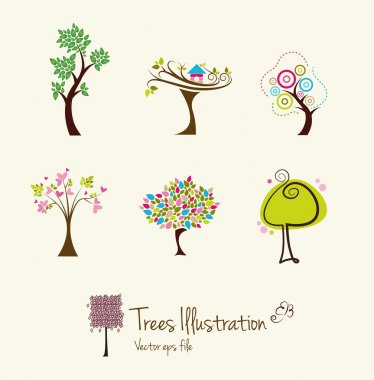 Tree art illustrations