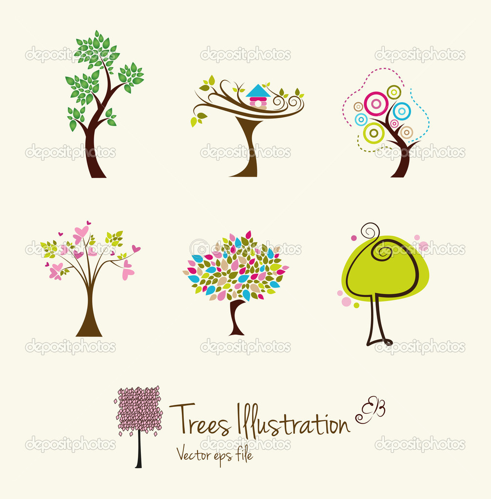 Tree art illustrations