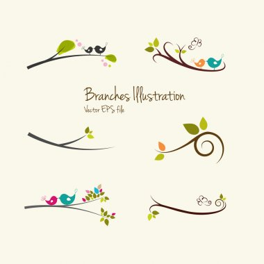 Branches art illustrations