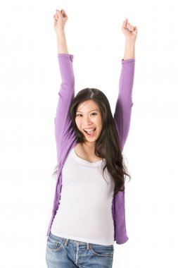 Portrait of a happy Asian woman.