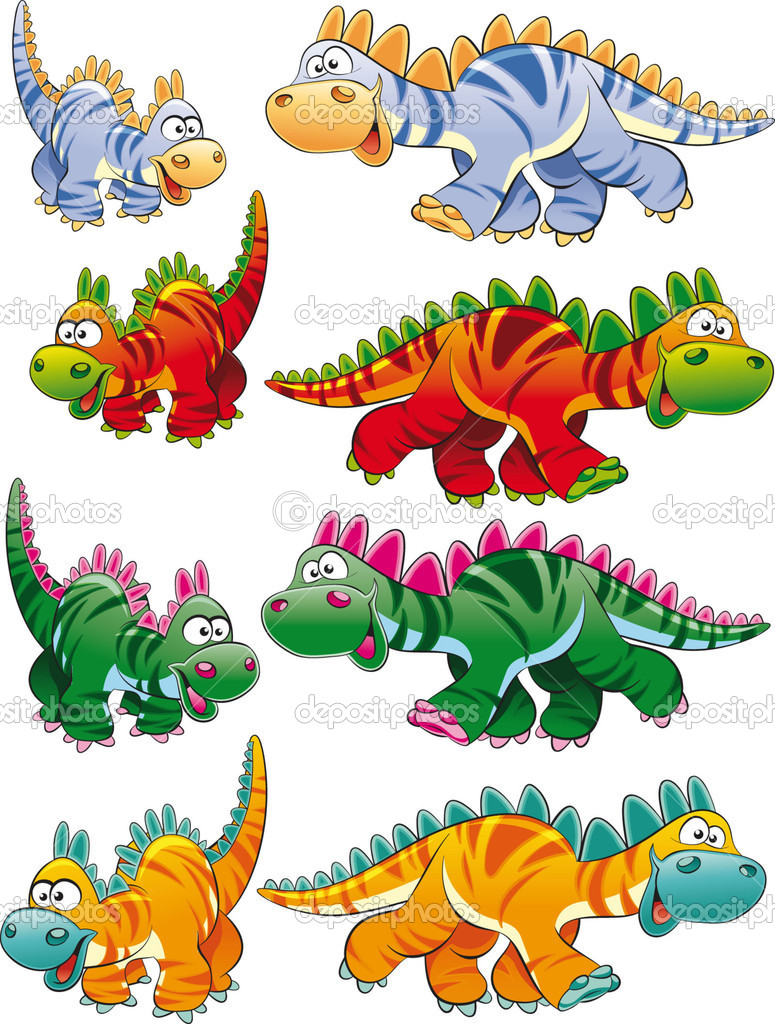 Types of dinosaurs. — Stock Vector © ddraw #10956741