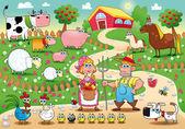Fotografia famiglia di fattoria