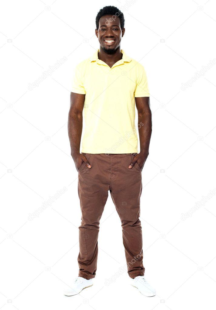 portrait de toute la longueur de l 39 homme souriant photographie stockyimages 11235192. Black Bedroom Furniture Sets. Home Design Ideas