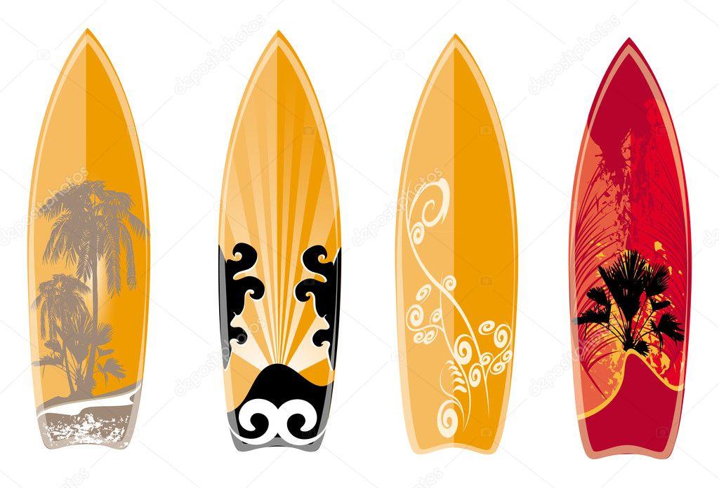 Tabla de surf vector de stock nicky2342 11591868 - Disenos de tablas de surf ...