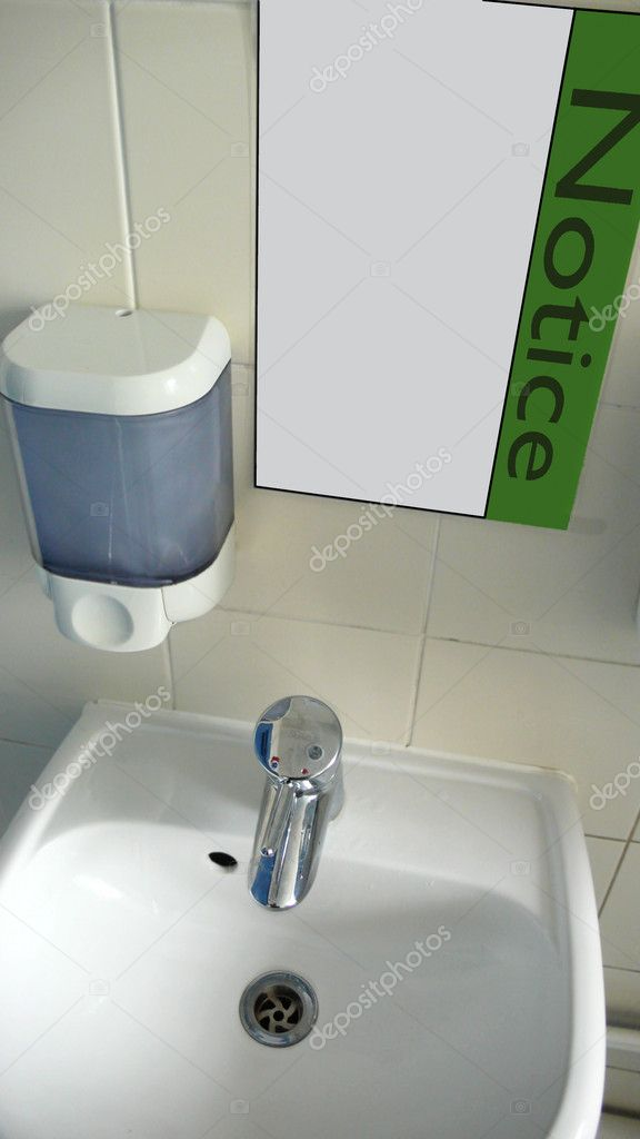 Notice for saving water — Stock Photo © anizza #11264561