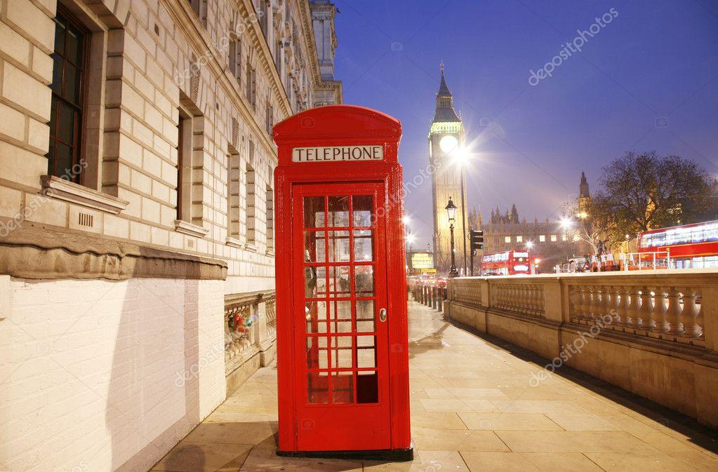 Cabina telefonica di londra e il big ben foto stock for Piani di cabina contemporanei