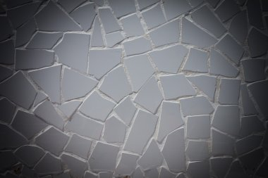 White tile pattern of a cobble stone street texture