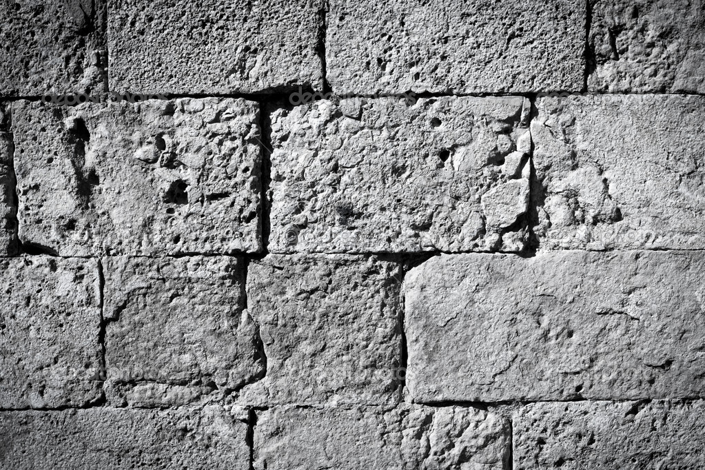 Black And White Brick Wall Texture Background Stock Photo