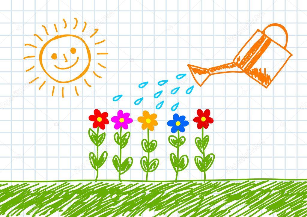 Drawing of garden