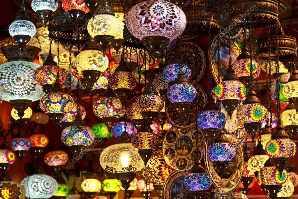 Turkish Lamps In The Grand Bazaar, Istanbul, Turkey U2014 Stock Photo