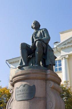 Monument for Russian scientist Mikhail Lomonosov