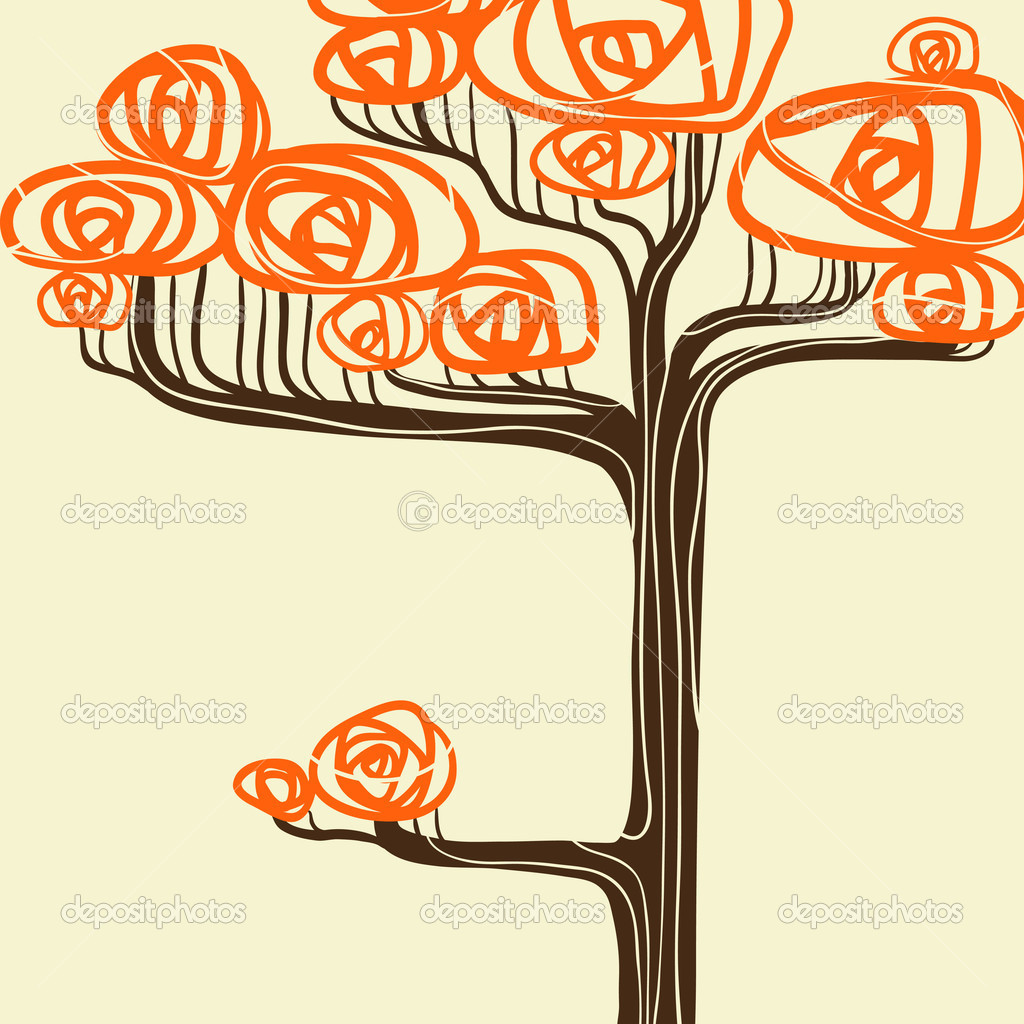Beautiful autumn tree for your design. Vector illustration.