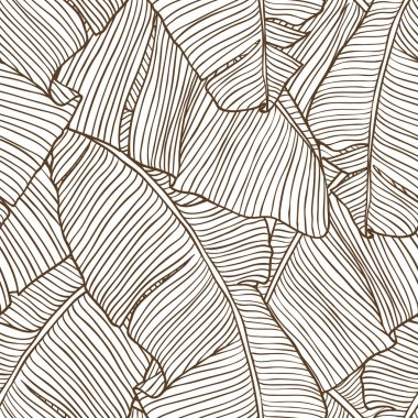 Vector illustration leaves of palm tree. Seamless pattern. clip art vector