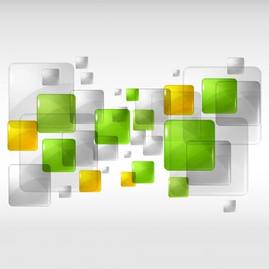Abstract background with transparent colored squares. Eps 10.