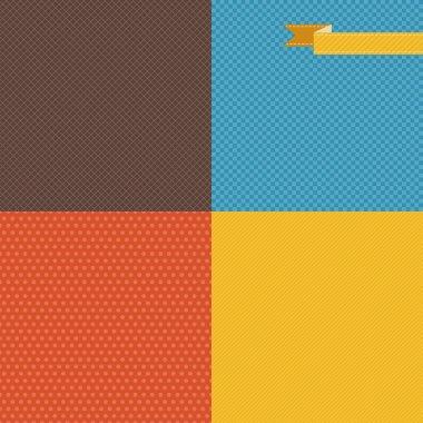 Seamless abstract retro pattern. Stylish geometric background.