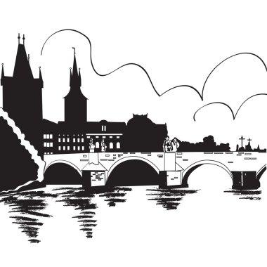 Charles Bridge and Vltava river