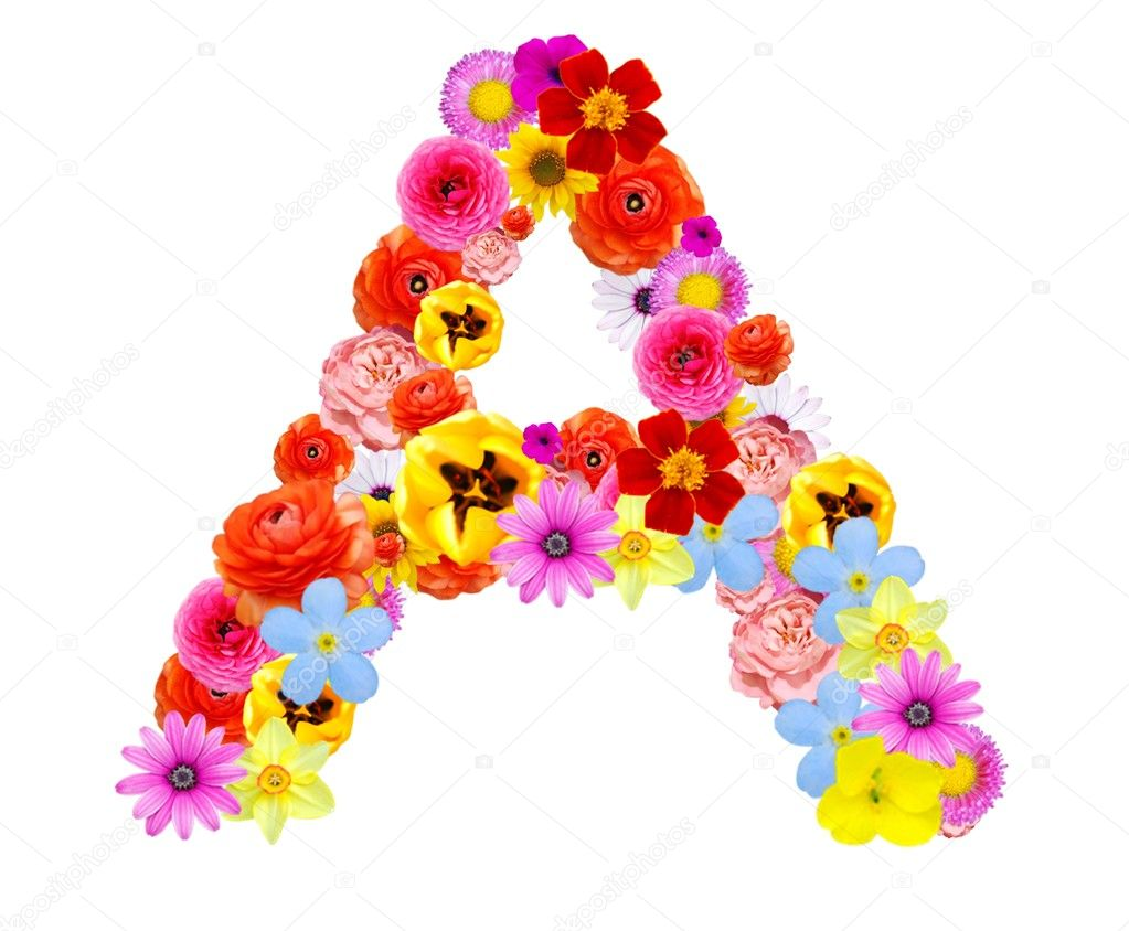 Letters a flower