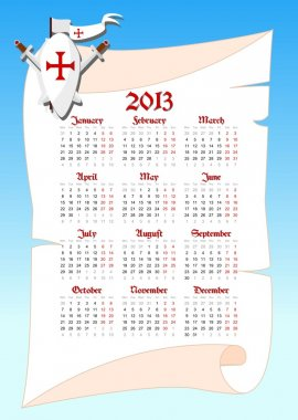 Medieval calendar 2013